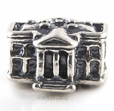 Authentic Trollbeads World Tour Silver Bead for the US White House US11306