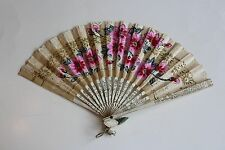 VINTAGE LADIES PAPER FAN
