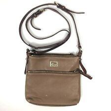Dooney & Bourke Vintage Crossbody Purse Brown Adjustable Strap Zipper Closure