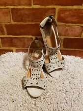 Clarks Artisan Women's Sandals Taupe Tan Suede Studded Zip Back Wedge 7M ~2491~