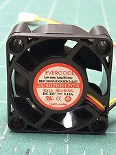 Fan 12VDC high efficiency long life 5500 RPM EC4020H12CA 40x40x20mm Ball bearin