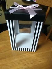 Clear Panel Gift Box With Lid & Bow
