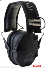 WALKER'S WALKERS RAZOR PATRIOT SERIES SLIM SHOOTER ELECTRONIC MUFFS BLACK