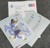 Brighton v Sheffield Wednesday FA CUP Programme with teamsheet 4/1/2020!!!!!