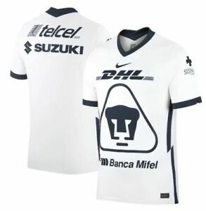 Nike UNAM Pumas Season 2020 - 2021 Home  Soccer Jersey New White Navy Blue