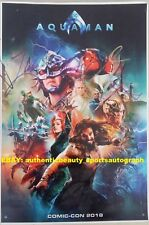 Aquaman Signed Jason Momoa+Wan+King Orm+Nereus+Manta Movie Poster 12x18 Reprint