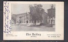 USA 1912 DUDLEY HOTEL POSTCARD ST LOUIS MISSOURI TO ARCOLA ILLINOIS