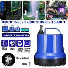 15 - 90W Water Pump Submersible Fish Tank Aquarium Pond Fountain Spout