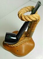 Macabo Made In Italy Wooden Rope Single Tobacco Pipe Holder Estate Find