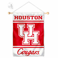 UH Cougars Mini Window Banner Hanging with Suction Cup