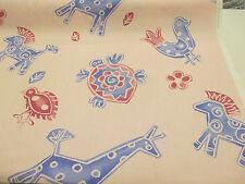 "PINK & Blue CAVALLI & Birds ""Yankee Doodle"" stampata 100% cotone tessuto per tende"