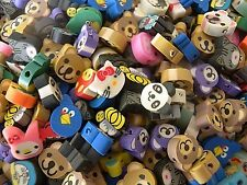 50 MIXED FIMO POLYMER ANIMAL FACES BEADS - ALL VARIETIES - QUICK SHIPMENT