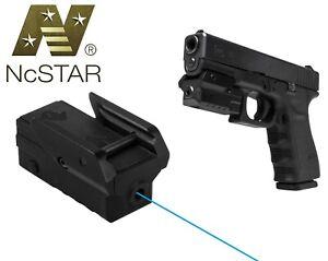 NcStar Pistol Low Profile Compact Blue Laser w/Strobe Weaver/Picatinny Mount