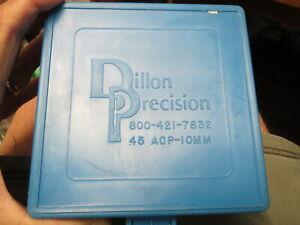 6 Dillon PRECISION BLUE .45 ACP/10mm AMMO BOX - 100 ROUNDS PER BOX WIT LABELSl