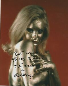 SALE!  Shirley Eaton photo signed in person - James Bond - Goldfinger - Q033