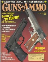 Magazine GUNS & AMMO April 1988 !!RUGER Stainless GP-100 .357 Magnum REVOLVER!!