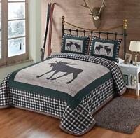 American Deer Flag Queen Blanket Buck Heavy Weighted Bedding Soft Warm Comforter
