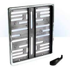 1 Kennzeichenhalter - META CHROM - verchromt - 180x200