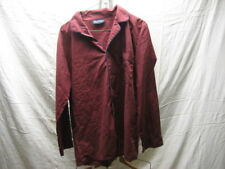 Vintage Puritan L Large Maroon Black Pajama Top Button