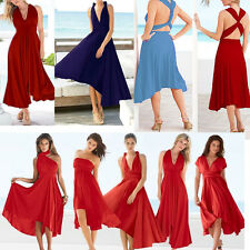Handmade Multi Way Wrap Convertible Dress Bridesmaid Dress 26 Colors Size AU6-30