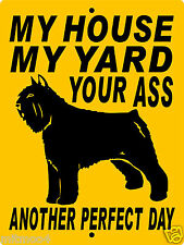 "Bouvier Dog Sign, 9""x12"" Aluminum,Guard Dog,Warning Sign,Security, 1994Bdf"