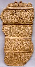 Huge Antique reproduction Greek Roman Fighters Wall Decor Soldiers Plaque