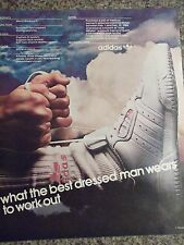 1986 Adidas What The Best Dressed Man Wears To Work Out Advertisement