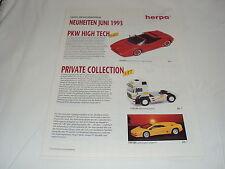 W/3/13/2 Modell Modellauto Katalog Prospekt Herpa Miniaturmodelle Neuheiten 1993