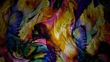 tissu jersey flamme  gros motifs multicolores 100x140 cm