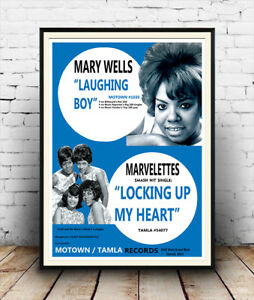 Mary Wells & Marvelettes ,   Vintage advertising  poster reproduction