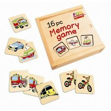 NEW Wooden Memory Game - 16pc