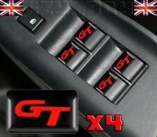 x4 Red GT 3D Dome Interior Stickers Emblem Logo Badges For Kia VW Golf Audi Jag