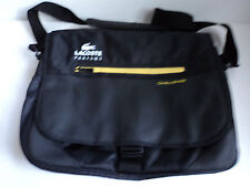 LaCoste Parfumes Black Nylon  Messenger Laptop  Bag