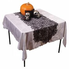 Gothic Spider Web Tablecloth Black Halloween Party Decoration Lace Table Cover