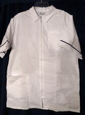 Men's Student Nurse Top Large 4002-011 Clinical Zipper Front Collar Meridy's New