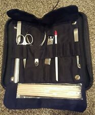 7 Piece Professional Manicure Pedicure Nail Kit Tool Set in black case. BN