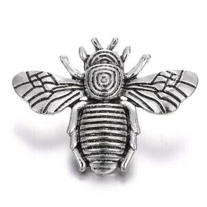 Silver Snap Jewelry Cute Bee Metal Button Rhinestone Fit 18mm DIY Bracelet Snaps