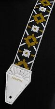 LENNON Rooftop WHITE Cotton TROPHY USA-made Guitar Strap - LIMITED EDITION