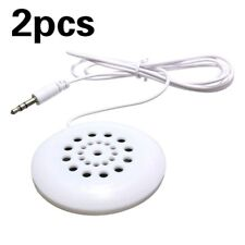 2pcs 3.5mm Mini Pillow Speaker for MP3 MP4 Player IPhone IPod Touch Radio LN8C