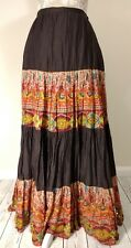 Zara TRF Beaded Hippy Boho Sequin Floaty Maxi Skirt Size Medium 10 12