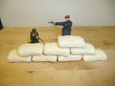 1/32 SCALE TEXTURED RESIN MEALIE BAGS /DEFENCE SACKS/ LARGE SANDBAGS 4 DIORAMAS