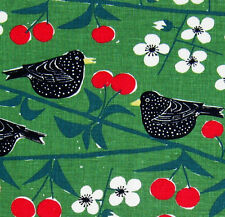 scandinavian fabric Cherry Orchard 50s 60s vtg Marianne Westman DIY heals era