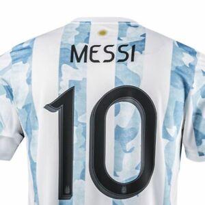 ARGENTINA 2021 LIONEL MESSI #10 Home Match Jersey COPA AMERICA CHAMPION Shirt !!