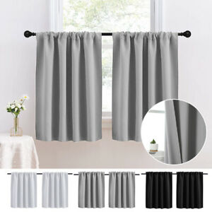 Short Curtains Blackout Small Kitchen Window Curtain Living Room Bedroom Drapes