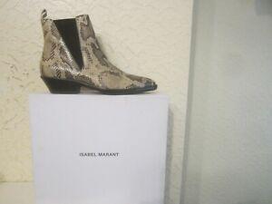 Isabel Marant Drenky Snakeskin Effect Leather Women's Boots
