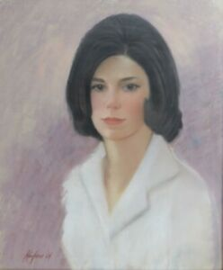Kaufman (Mid 20th Century) Pastel on board, Portrait of young woman, signed