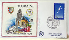 FRANCE TOURAINE  TOURS   1992  BLOC FEUILLET CNEP SUR ENVELOPPE    N°14 FDC