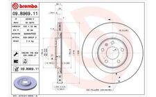 1x BREMBO Disco de Freno Trasero Ventilado 330mm Para AUDI A5 09.B969.11