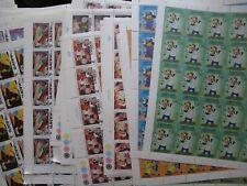 lot of 64 MINT Walt Disney FULL SHEETS Cartoons - Mickey Donald Duck  Romania