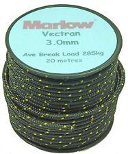 Marlow Vectran  3.0mm  diameter X 20m  reel  - colour black/gold fleck